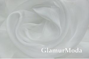 Тюль Органза с утяжелителем белый цвет №1, арт. 327, 300 см