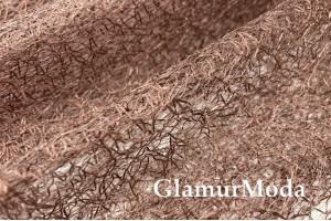 Тюль паутинка коричневого цвета 280 см