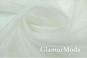 Тюль-сетка молочного цвета, с утяжелителем, цвет 02, 300 см, Турция