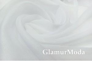 Тюль-сетка белого цвета, с утяжелителем, цвет 01, 300 см, Турция