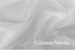 Тюль-сетка белого цвета, Китай