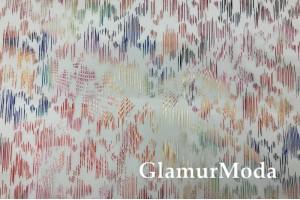 Пленка ТПУ для одежды, разноцветные полоски глиттер