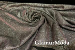 Трикотаж Хамелеон c люрексом серебряно-розовый