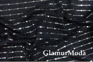 Трикотаж c люрексом, блестящие полоски серебристого цвета