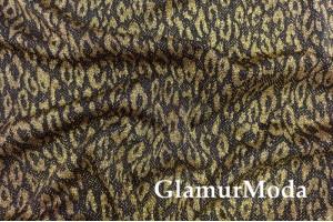 Трикотаж c люрексом, золотистые пятнышки на черном фоне