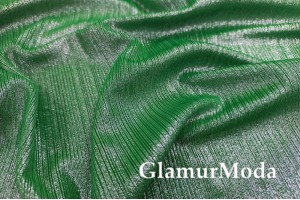 Трикотаж с люрексом (голограмма), зеленый цвет