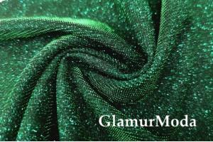 Трикотаж Хамелеон c люрексом зеленого цвета