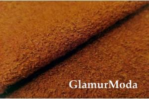 Ткань Лоден коричневый цвет