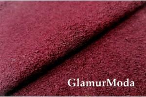 Ткань Лоден цвет марсала