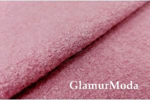 Ткань Лоден тёмно-розовый цвет