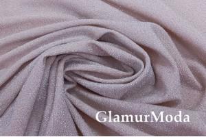 Трикотаж Металлик c люрексом бежево-розового цвета