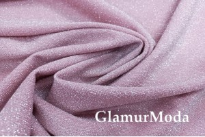 Трикотаж Металлик c люрексом розового цвета