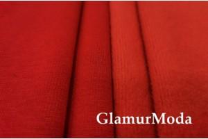 Трикотаж на меху красного цвета арт.5463