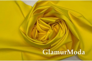 Трикотаж Джерси (Нейлон Рома) желтого цвета 600 гр/м