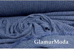 Трикотаж c вискозой джинсового цвета