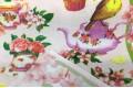 Вафельное полотно 50 см, рисунок Чайный сервиз