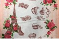 Вафельное полотно 50 см, рисунок Парижская история
