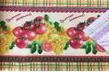 Вафельное полотно 50 см, рисунок Приятного аппетита