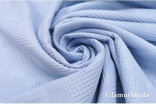 Вафельное полотно 235 см, нежно-голубого цвета