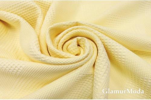 Вафельное полотно 235 см, нежно-желтого цвета