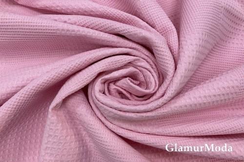 Вафельное полотно 235 см, розового цвета