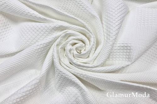 Вафельное полотно 235 см, белого цвета