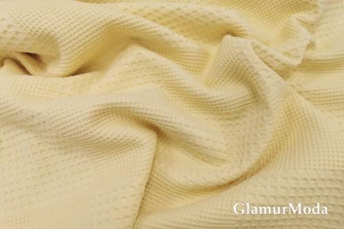 Вафельное полотно 235 см, желтого цвета
