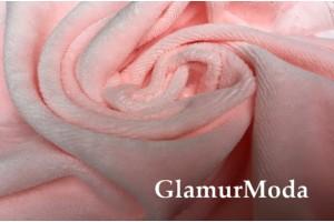 Велюр-хлопок розового цвета с персиковым оттенком