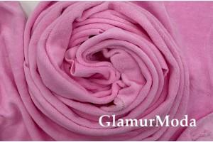 Велюр-хлопок розового цвета, Турция