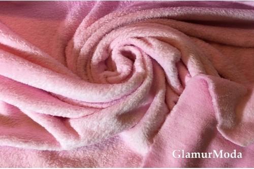 Велсофт однотонный розовый 150 см