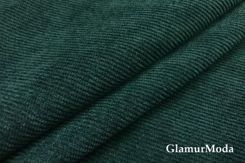 Вельвет со стрейчем зеленого цвета