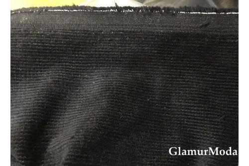 Вельвет хлопок со стрейчем черного цвета