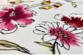 Вискоза Pinar, яркие цветы на белом фоне