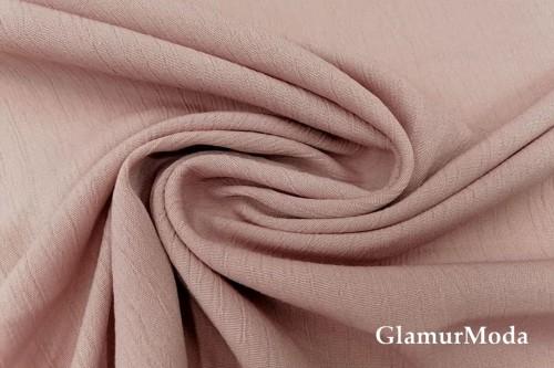 Вискоза крэш (жатая) цвет розовой пудры