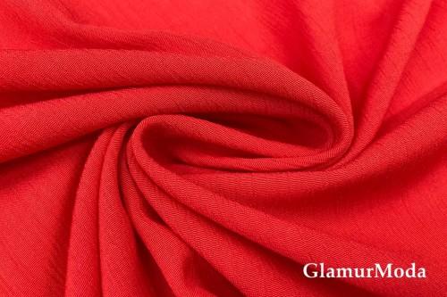 Вискоза крэш (жатая) цвет красный