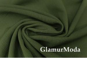 Вискоза крэш (жатая) цвет темно-зеленый