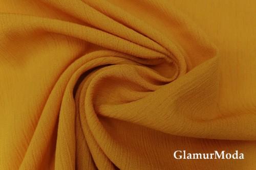 Вискоза крэш (жатая) цвет горчицы