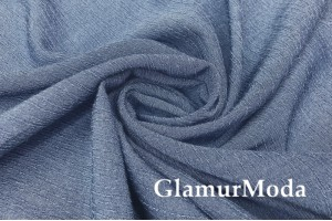 Вискоза крэш (жатая) джинсового цвета