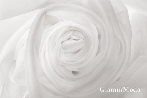 Вуаль белого цвета с утяжелителем