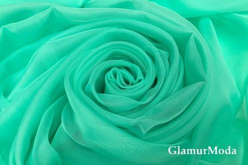Вуаль бирюзового цвета шириной 300 см