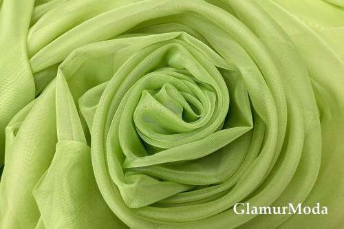 Вуаль салатового цвета шириной 300 см