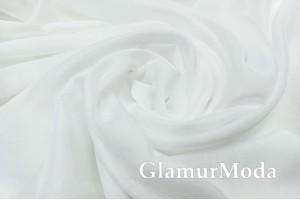Креп вуаль белого цвета с утяжелителем 305 см, Турция