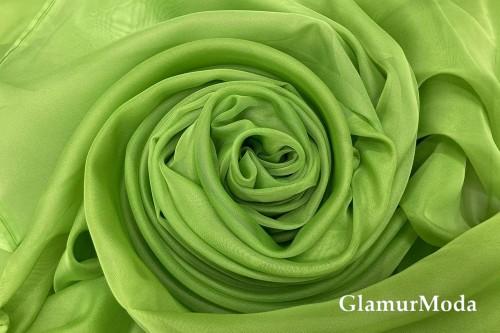 Вуаль темно-салатового цвета шириной 300 см