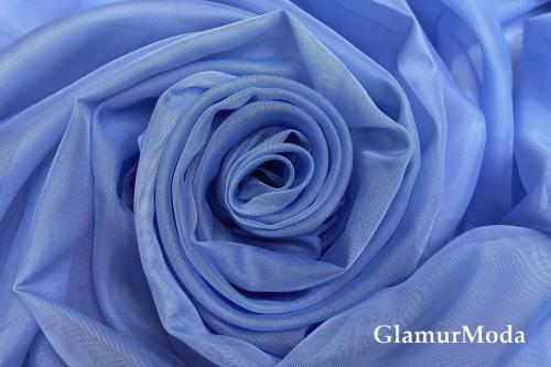 Вуаль голубого цвета шириной 300 см