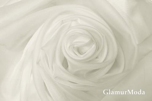Вуаль молочного цвета шириной 300 см