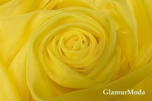 Вуаль желтого цвета с утяжелителем