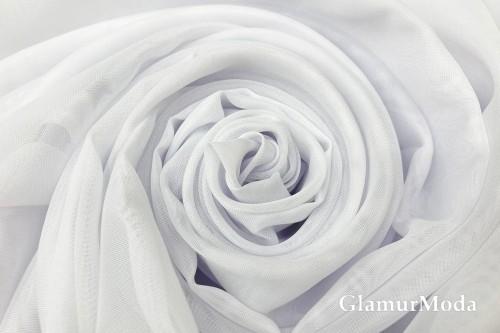 Вуаль белого цвета с утяжелителем, 320 см, Турция