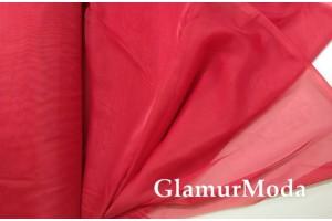 Вуаль красного цвета шириной 300 см