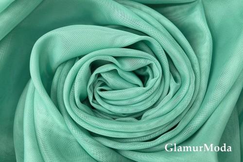 Вуаль бирюзового цвета с утяжелителем, 300 см, Турция