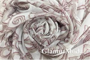 """Вуаль """"Серые цветы"""" , 280 см"""